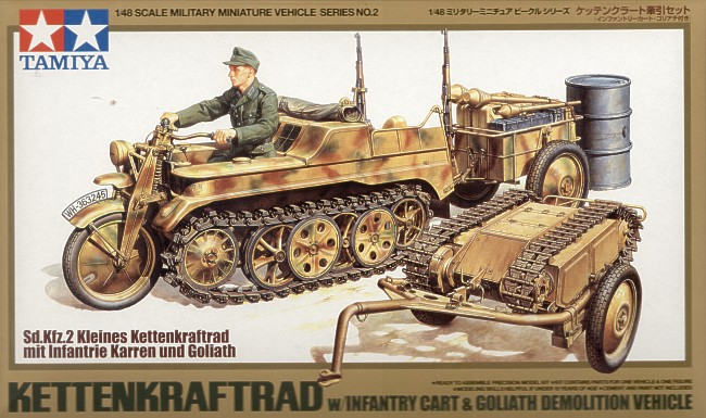 Tamiya (TA32502), Kettenkraftrad with Goliath, 1/48